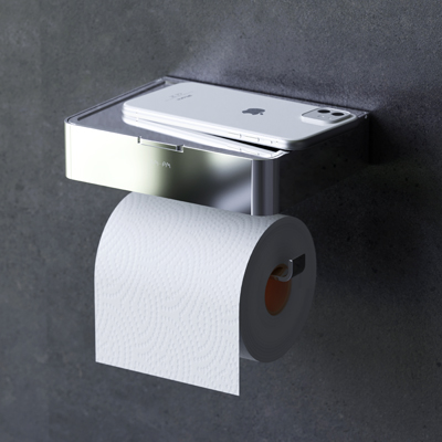 Toilet roll holder with box
