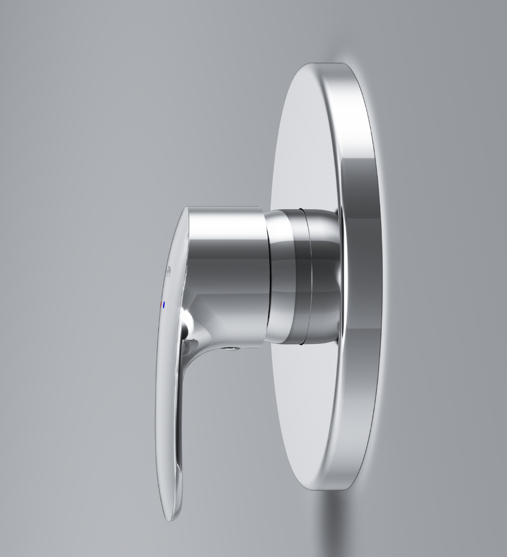 F8075000 Single-lever shower mixer for concealed installation