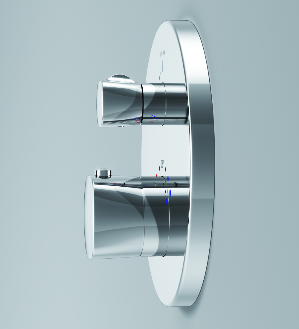 F71A75600 Thermostatic single outlet mixer for concealed installation