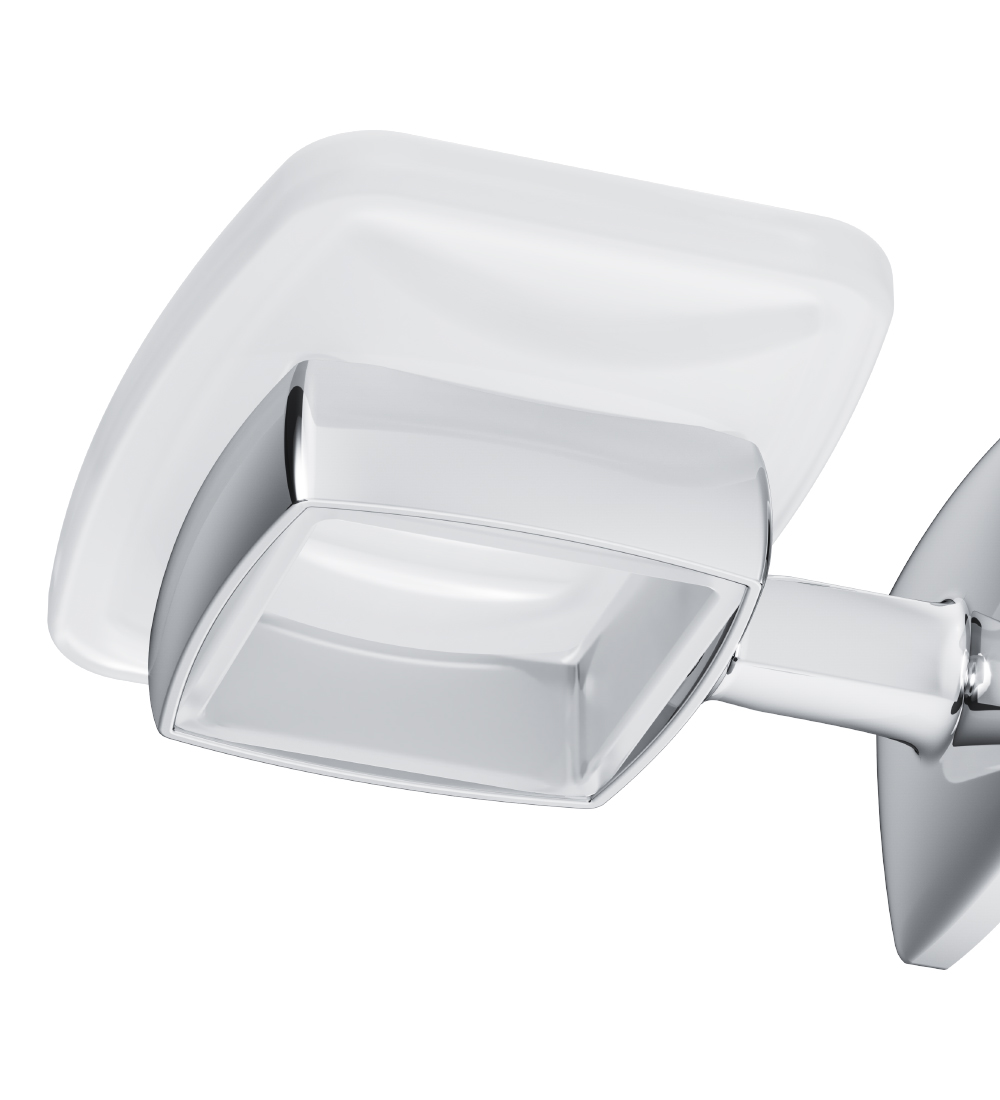 A9034200 Glass soap dish with holder