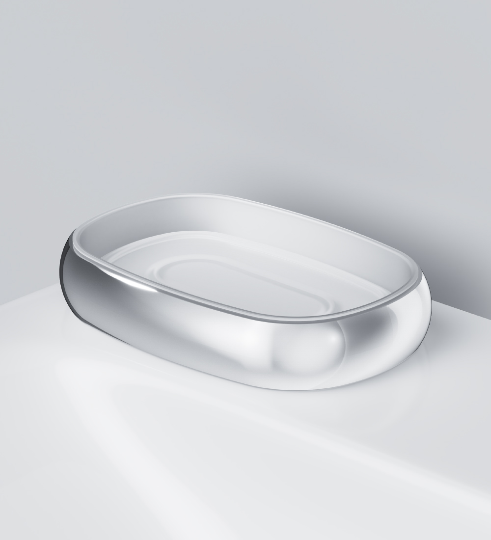 A3031200 Glass soap dish, freestanding