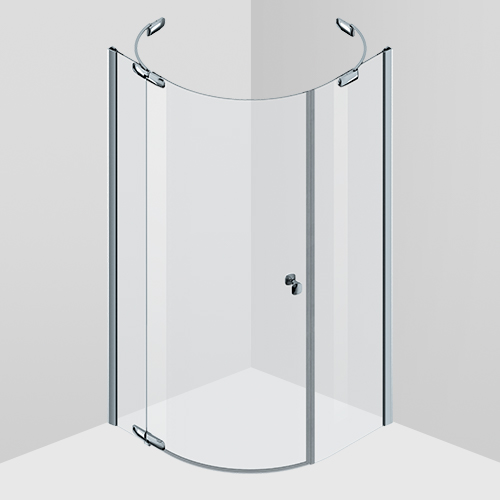 Shower enclosure, one swing door