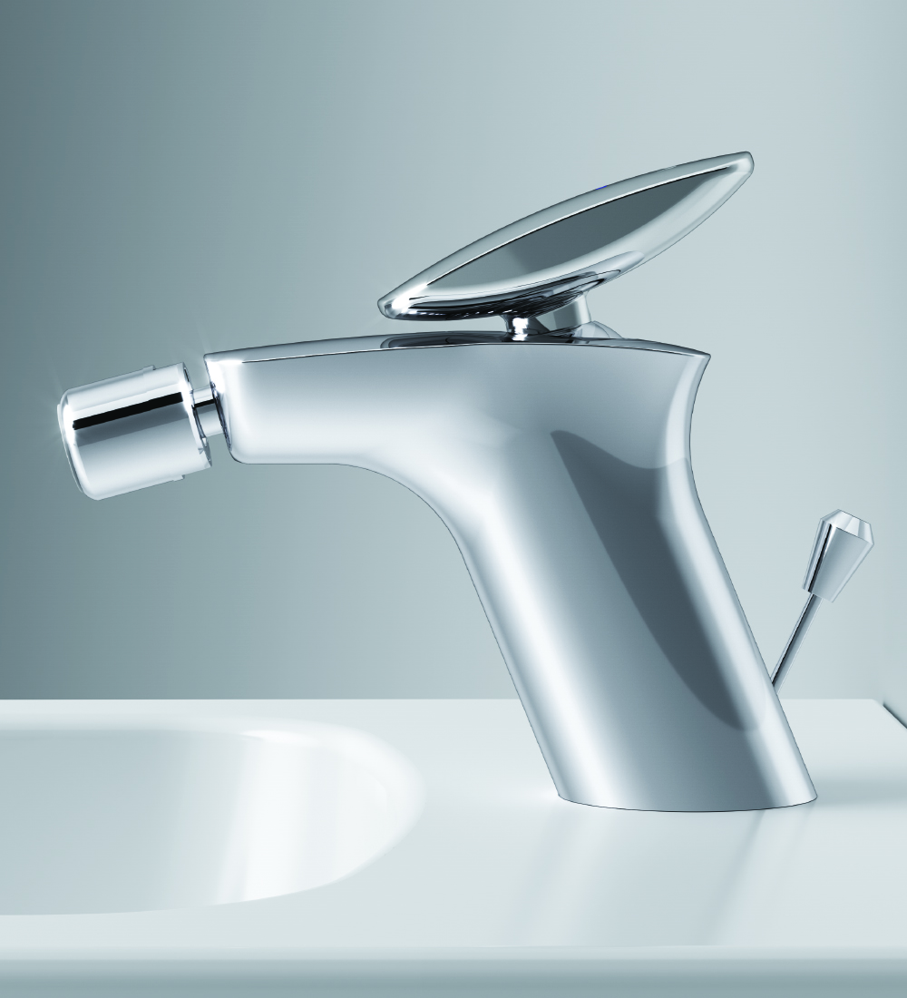 F70A83100 Single-lever bidet mixer with waste set