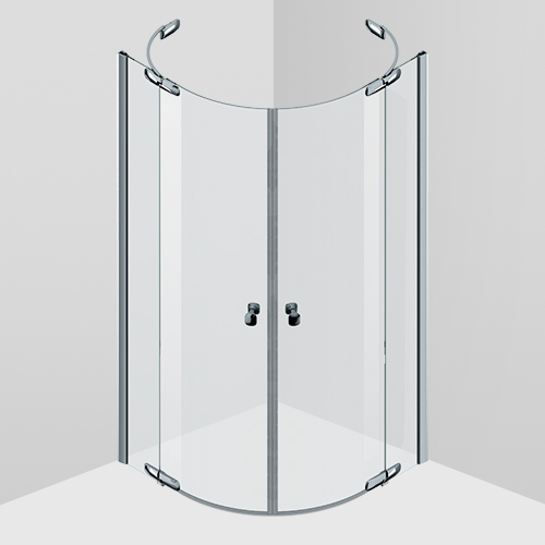 Shower enclosure, swing doors