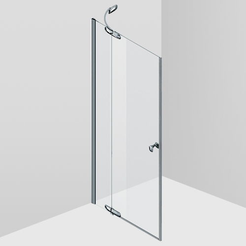 Pivot door with fixed segment