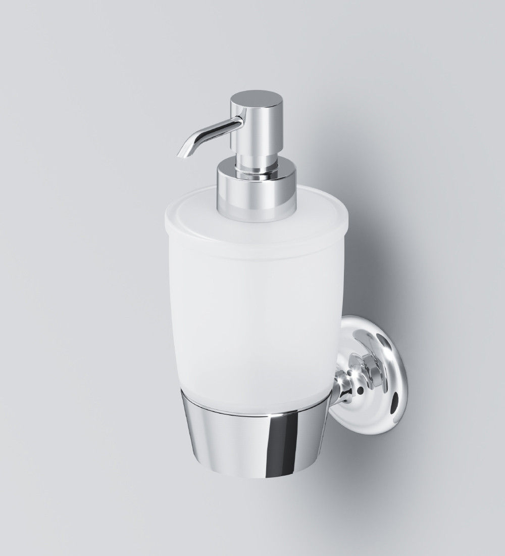 A8036900 Glass soap dispenser with holder