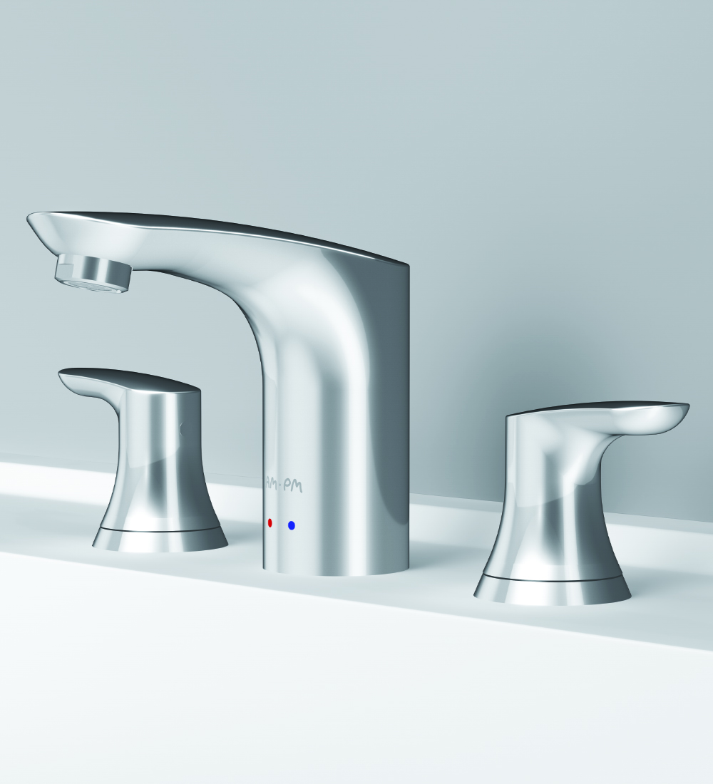 F8008000 Three-hole basin mixer with waste set