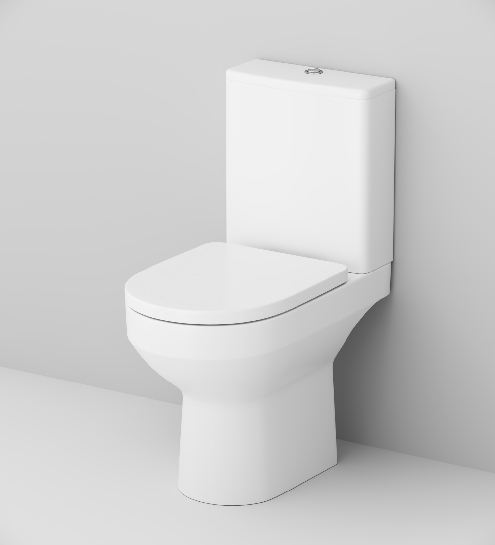 C708600SC Close-coupled rimless WC suite FlashClean, universal outlet