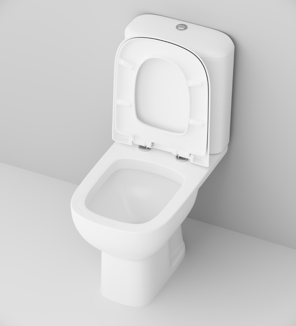 C808607SC Close-coupled WC suite with soft-closing seat cover