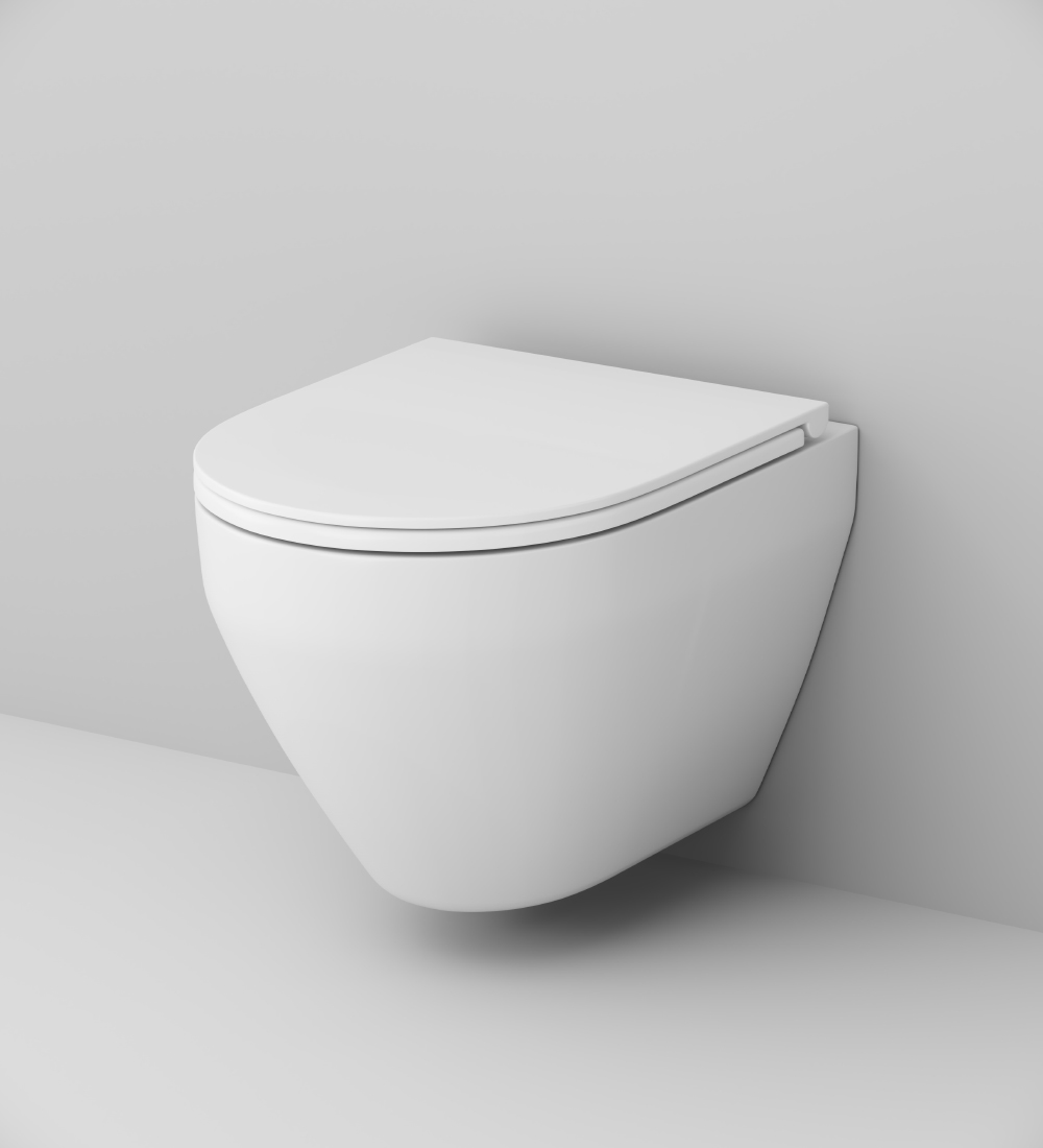 C701700WH Wall-hung rimless WC FlashClean