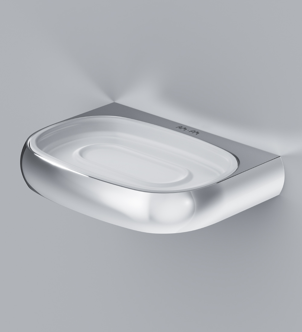 A3034200 Glass soap dish with holder