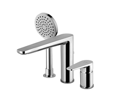 Three-hole single lever bath combination