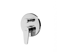 Single-lever bath and shower mixer for concealed installation