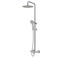 ShowerSpot with thermostatic mixer and bath spout