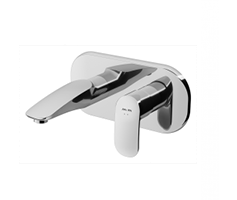 Single-lever basin mixer for concealed installation