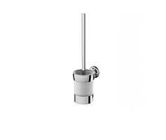Toilet brush with holder, universal