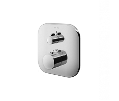 Thermostatic single outlet mixer for concealed installation