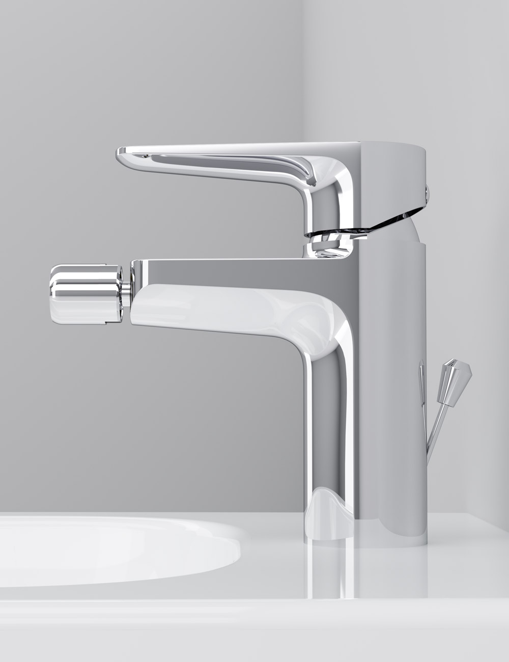 F5083100 Single-lever bidet mixer with waste set