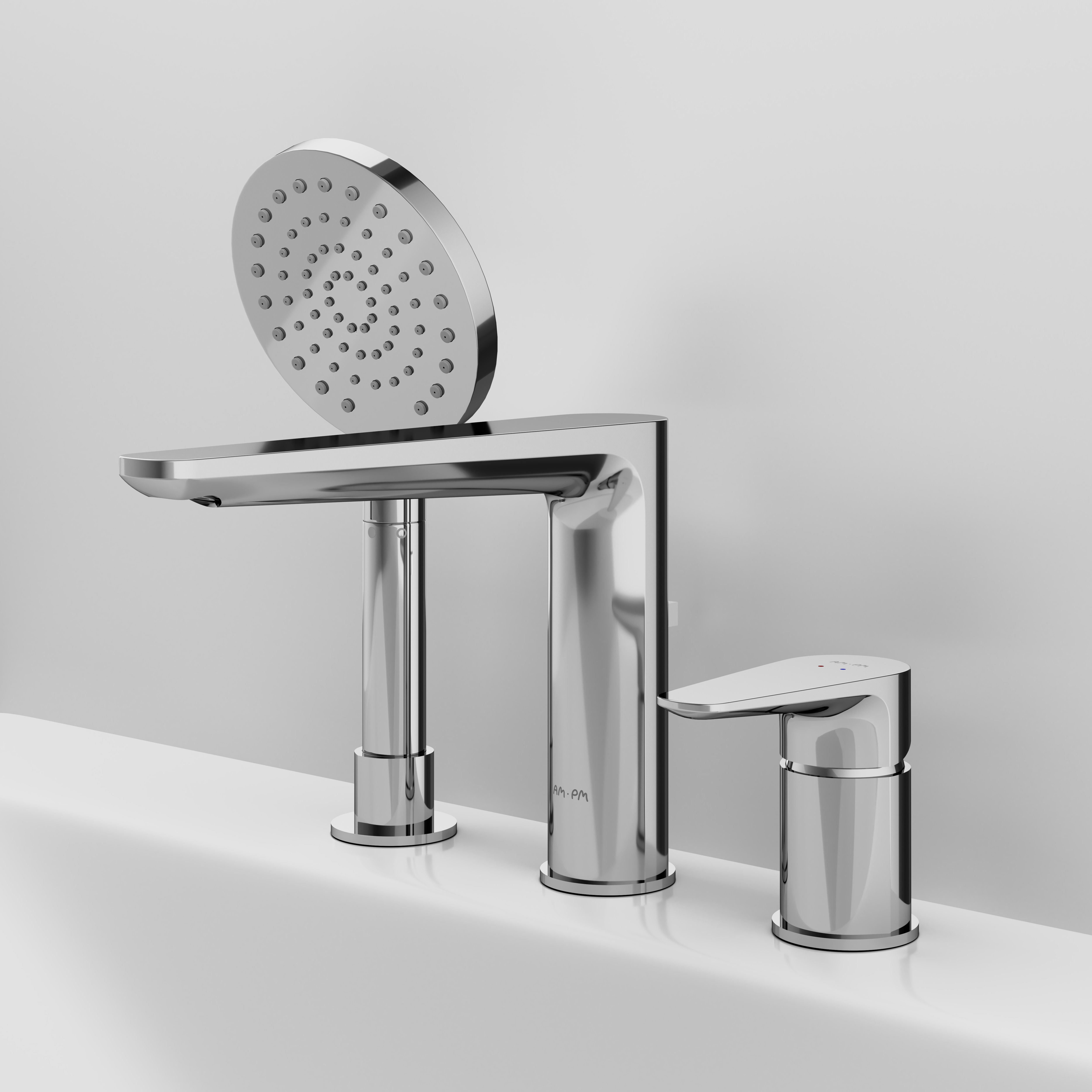 F5001300 Three-hole single lever bath combination