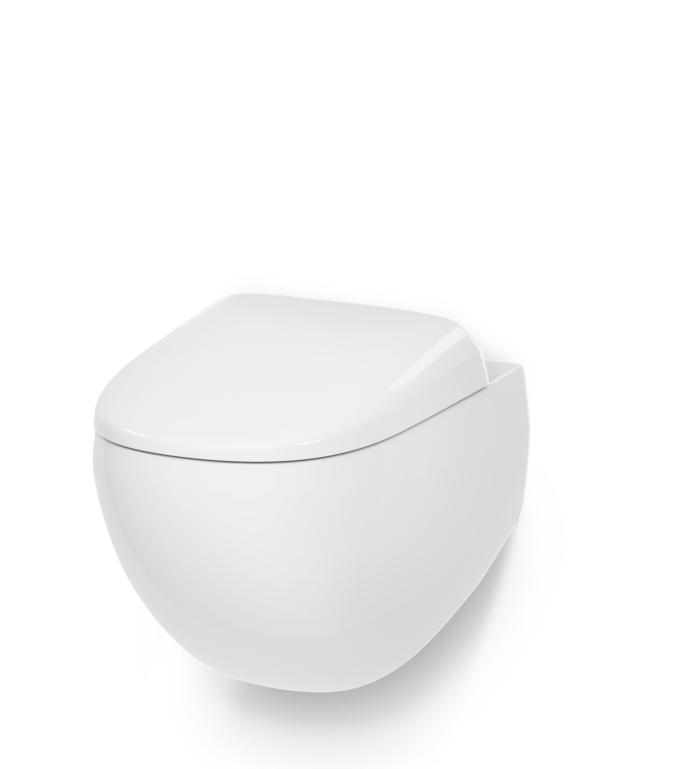Wall-hung rimless WC FlashClean