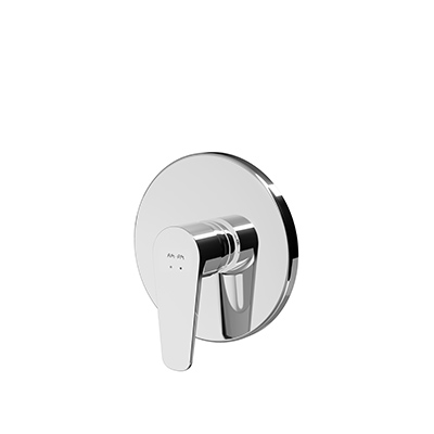 Single-lever shower mixer for concealed installation