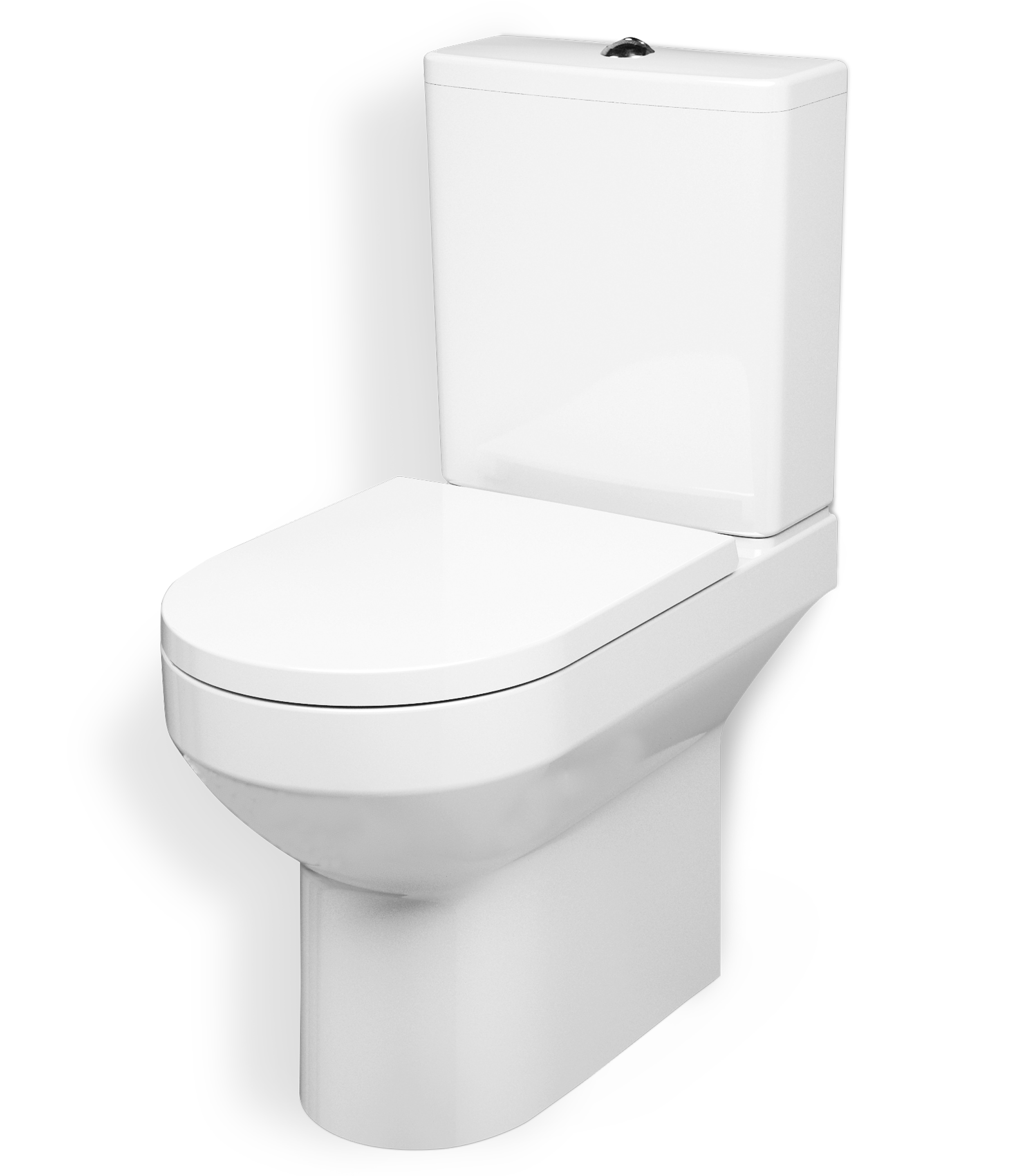Close-coupled rimless WC suite FlashClean, universal outlet