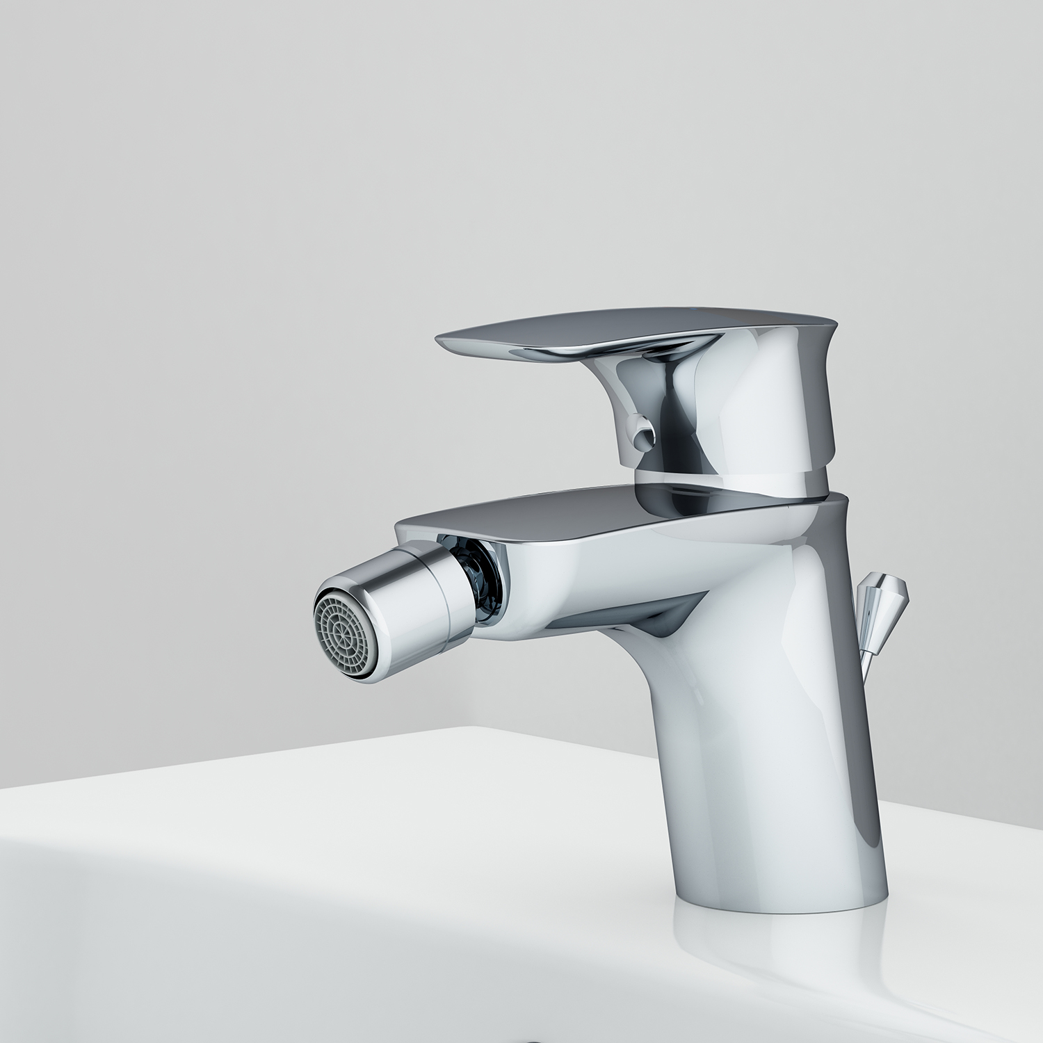 F71A83100 Single-lever bidet mixer with waste set